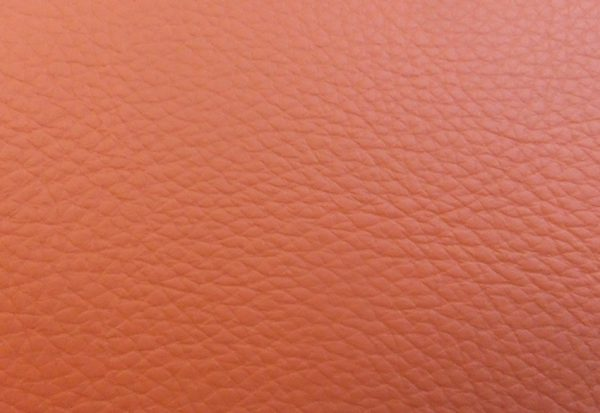 Vermillion Red Leather